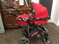Travel system inc. car seat pram and buggy