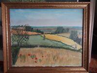 Original landscape painting in frame