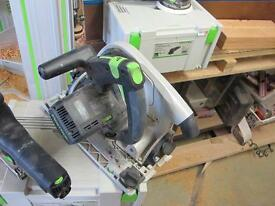 Festool plunge and dewalt chop saw