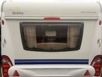 hobby caravan end bedroom