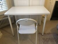 IKEA White Home Office Desk (+chair, if wanted)