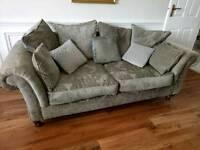 3 seated sofa & single armchair