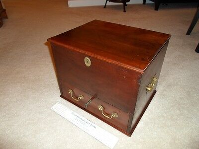 18th Century Period Apothecary Traveling Trunk Chest Mahogony Cellarette