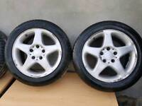 Tyres - 4 x 205 / 55 / 16 Tyres on Alloy Wheels.