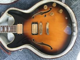 Westone Rainbow II Semi Guitar Matsumoku with original case Japan 1983