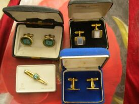 3 SETS OF CUFF LINKS IN BOXED