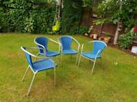 4 Cafe Style Patio Chairs very hard wearing as originally from Pizza Express
