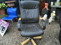 Good quality leather office chair ..free local delivery