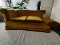 1920's chaise sofa NEEDS REPAIRS!