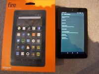 Amazon Fire tablet with 7 inch screen - ad-free - with new charger/cable