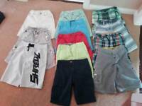 12 pairs boys shorts age 8