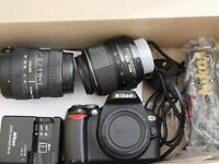 Nikon D60 with Nikon 18-55mm and Sigma 55-200mm zoom lenses