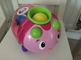 Pink Bright starts Having a ball count and roll buggie