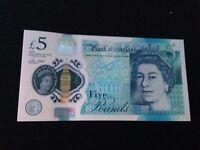 New Bank of England £5 Note AJ46
