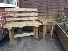 brand new -1200mm TIMBER BENCH with BACK - delivered ANY LOCATION