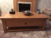Constance solid oak coffee table