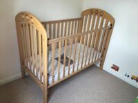 Very Solid Mamas & Papas Amelia Cot Bed & Instruction Manual