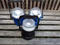 3 x battery operated lamps