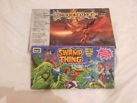 Dragon Lance and Swamp Thing Vintage Board Games Complete