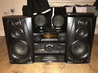 Technics audio system with amp