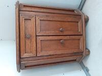 Small wooden corner cupboard
