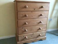 Bedroom chest of drawers made by Kerry's pine.