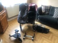Bugaboo donkey duo with accessories