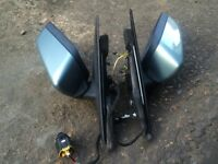 BMW E46 SALOON TOURING COMPACT POWER FOLDING MIRRORS GREEN(PAIR) + MIRROR SWITCH