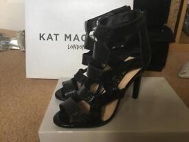 Kat Maconie Black Cage Sandal Size 4/37