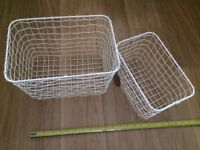 Two Sass & Belle stackable coated mesh storage basket BRAND NEW WITH TAG
