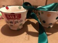 Emma Bridgewater Polka Dot tiny mug and cups