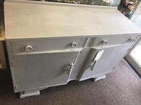 Shabby chic 1960's sideboard finished in London grey