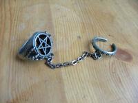 Alchemy Gothic pentagram ring