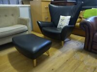 Matador Chair By Terence Conran Black & footstool Deliv Poss