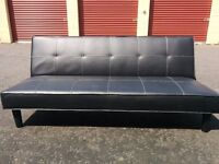 Leather Sofa Bed for sale x2