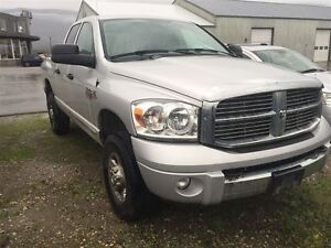 2008 Ram 3500 Laramie Quad Cab Short Box Bluetooth, Tow Mirrors