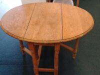 Oak Gate Leg Drop Leaf Table