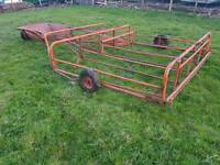 Tractor Brown's flat eight bale sledge