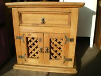 RUSTIC WOOD TV CABINET