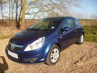 2008 Vauxhall Corsa 1.3 CDTi Breeze Plus 3dr. Only 41720 miles