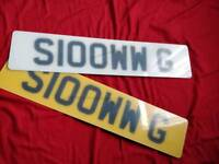 SLOOWW G (S100WW G) Personal Private Cherished Registration Number Plate