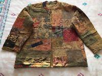 Hippie / boho festival patchwork jacket, size M/L