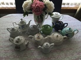 Selection of Vintage China Teapots-Ideal for Weddings, Tearooms,Functions etc