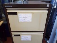 4 Drawer Office Filling cabinet Brown&Beige FREE MANCHESTER DELIVERY