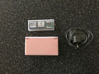 NINTENDO DS LITE PINK WITH GAMES