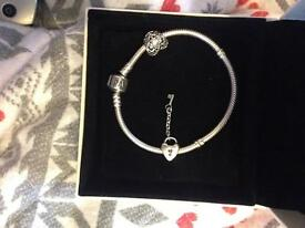 16cm pandora bracelet with 2 charms