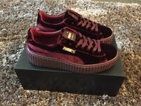 Puma x Fenty Rihanna Creepers Royal Purple/Burgundy Size UK 5 - Brand New In Hand