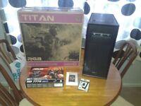 Gamemax Titan RGB PC - AMD FX 4300 CPU - 8GB Memory - HD 7770 GFX - WIFI