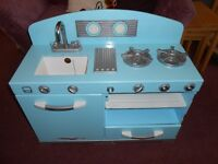 Kidcraft vintage wooden play kitchen & fridge/freezer, pans & more. Like ELC.