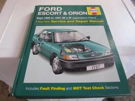 FORD ESCORT & ORION HAYNES MANUAL